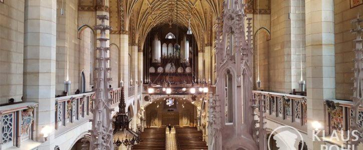 Schloßkirche Wittenberg, Blick zur Orgel