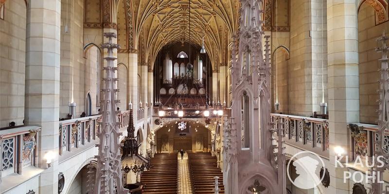 Schlosskirche Wittenberg, Blick zur Orgel