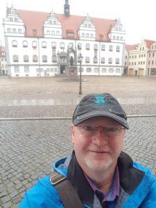 Stadtführer Klaus Pohl am Markt