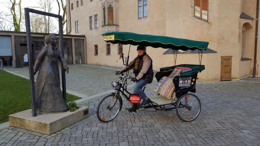 Fahrradrikscha in Wittenberg
